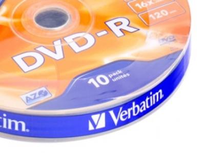 media dvd-r verbatim 4g7 16x matt-silver bulk10
