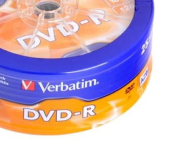 media dvd-r verbatim 4g7 16x matt-silver bulk25