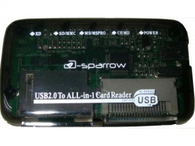 flash cardreader d-sparrow cr0001 black