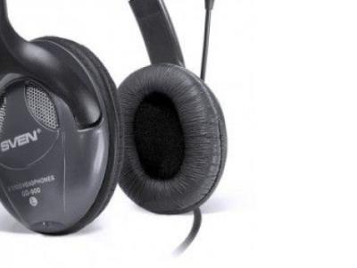 headphone sven gd-900mv+microphone black